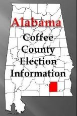 Alabama state shape with Coffee County highlighted